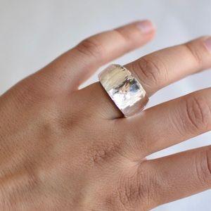 Swarovski crystal clear cocktail ring (6)